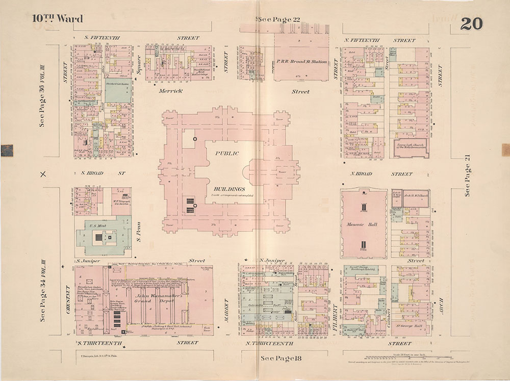 Insurance Maps of the City of Philadelphia, 1887, Plate 20