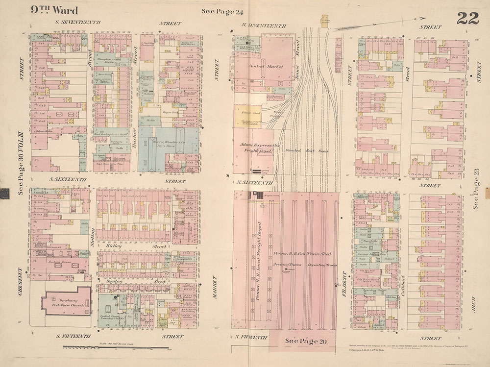 Insurance Maps of the City of Philadelphia, 1887, Plate 22