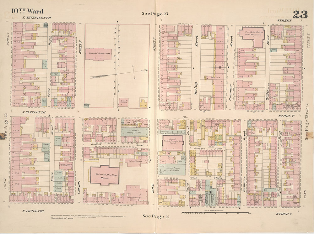 Insurance Maps of the City of Philadelphia, 1887, Plate 23