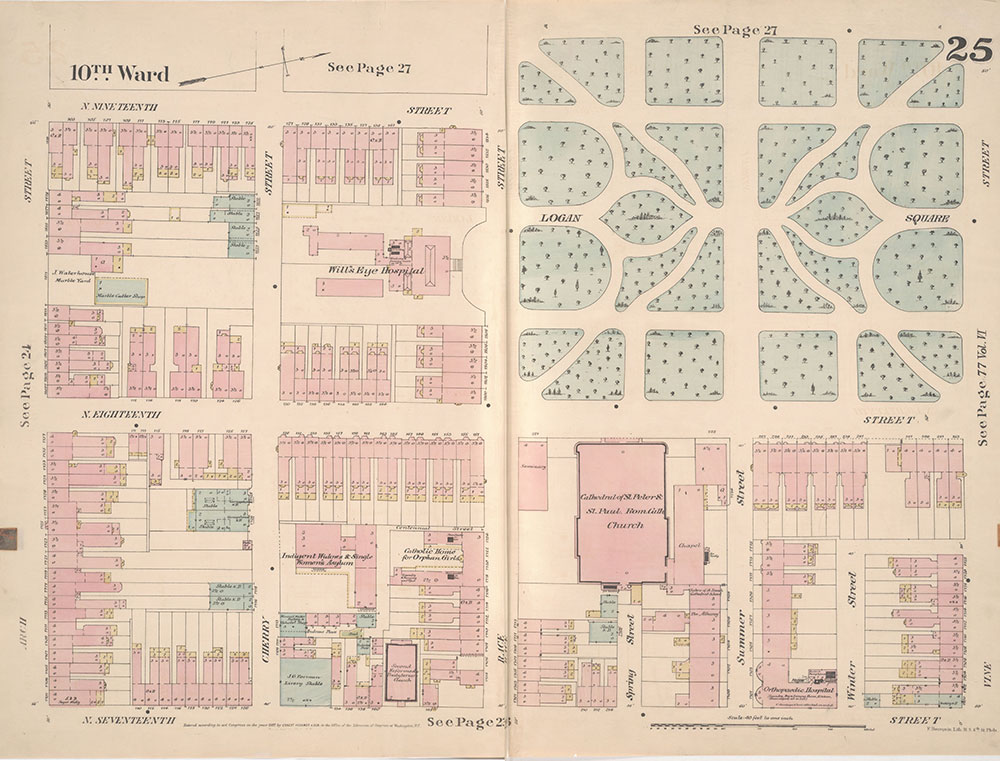 Insurance Maps of the City of Philadelphia, 1887, Plate 25