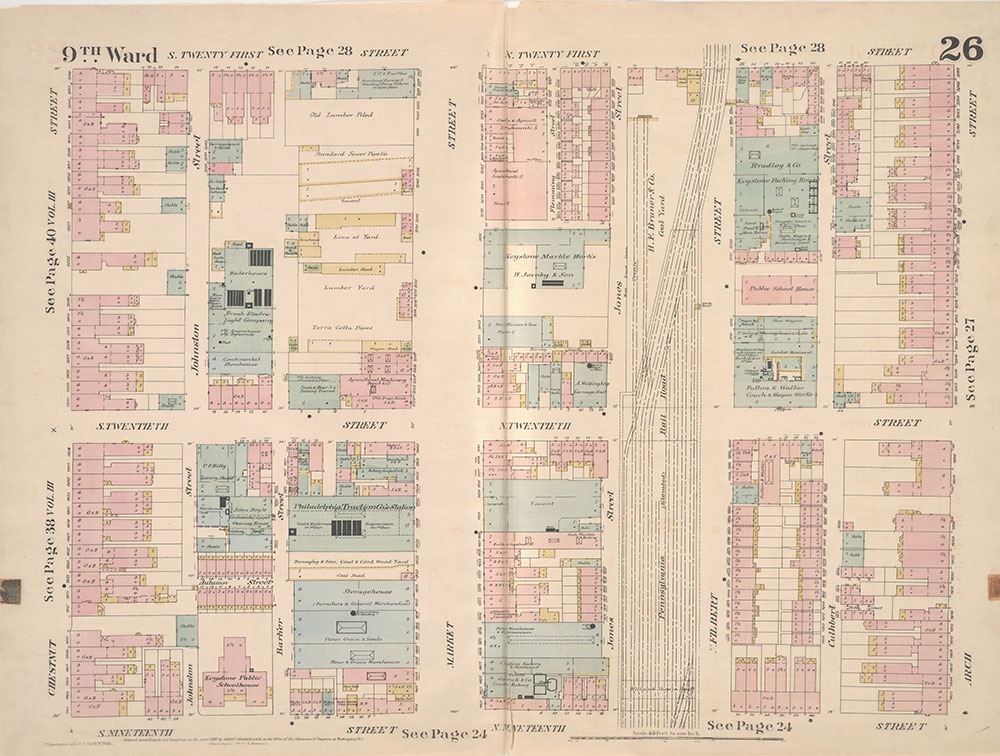 Insurance Maps of the City of Philadelphia, 1887, Plate 26