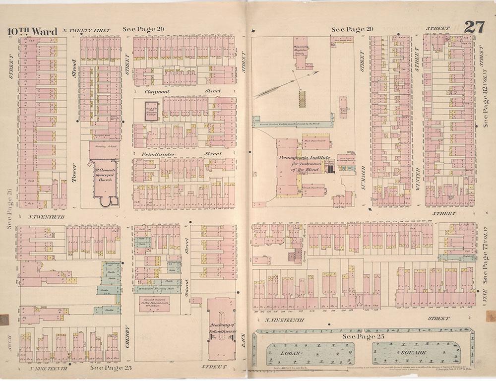 Insurance Maps of the City of Philadelphia, 1887, Plate 27