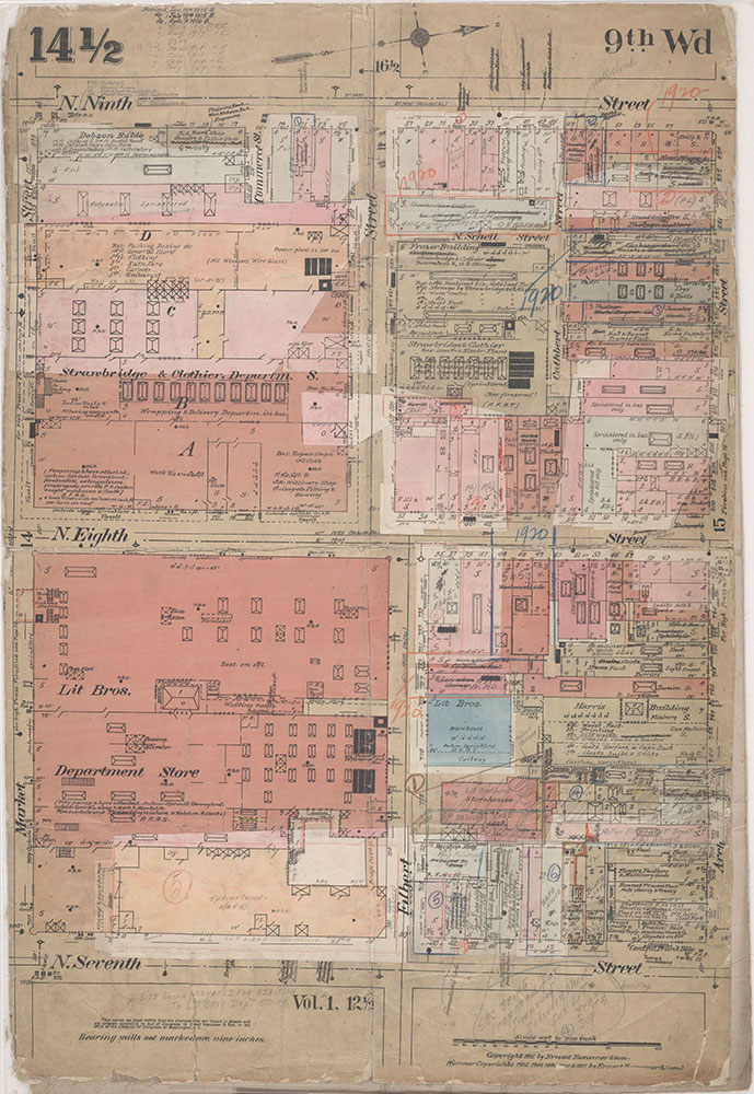 Insurance Maps of the City of Philadelphia, 1915-1920, Plate 14 1/2