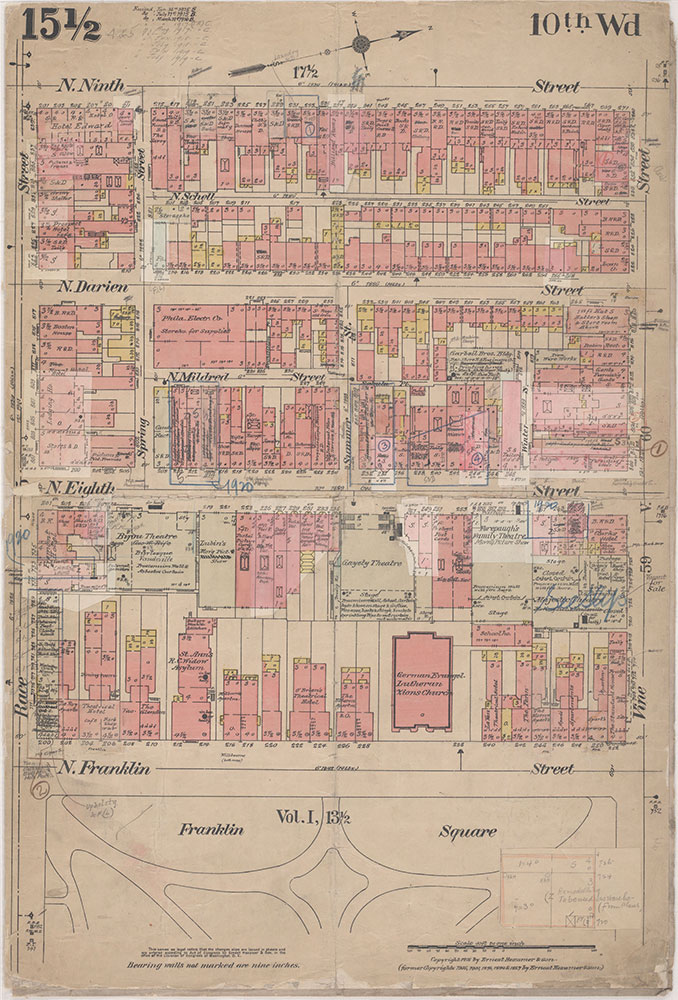 Insurance Maps of the City of Philadelphia, 1915-1920, Plate 15 1/2