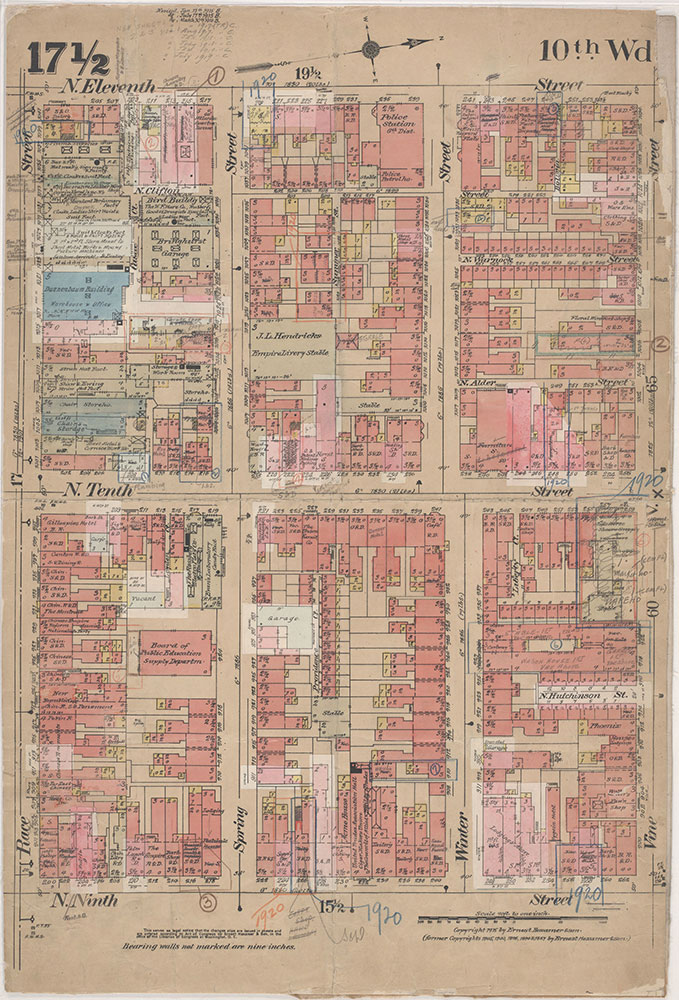 Insurance Maps of the City of Philadelphia, 1915-1920, Plate 17 1/2