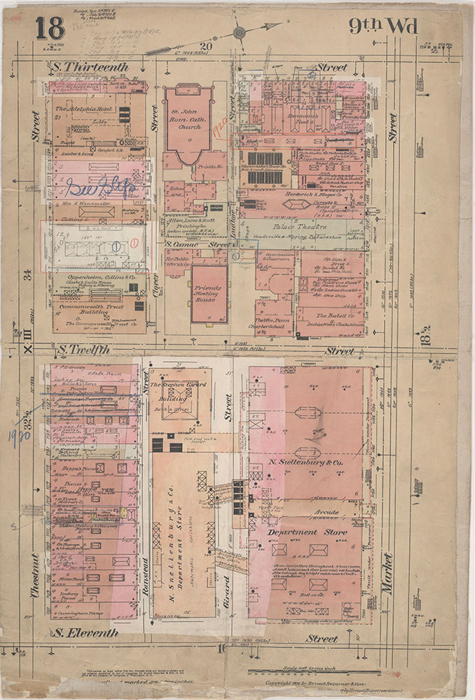 Insurance Maps of the City of Philadelphia, 1915-1920, Plate 18