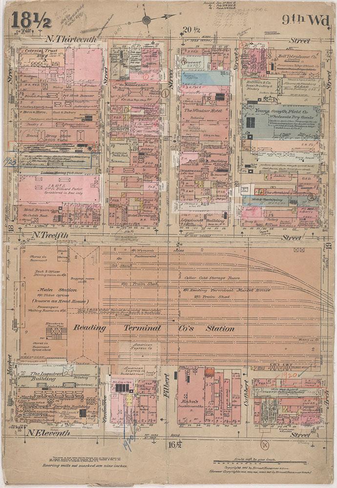 Insurance Maps of the City of Philadelphia, 1915-1920, Plate 18 1/2