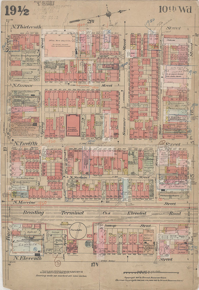 Insurance Maps of the City of Philadelphia, 1915-1920, Plate 19 1/2