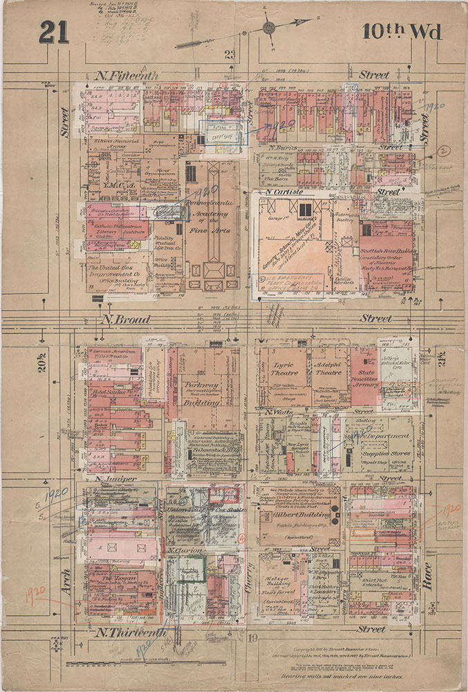 Insurance Maps of the City of Philadelphia, 1915-1920, Plate 21