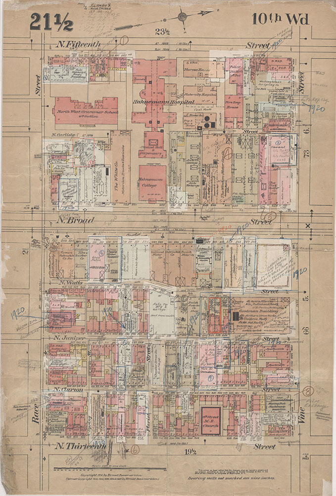 Insurance Maps of the City of Philadelphia, 1915-1920, Plate 21 1/2