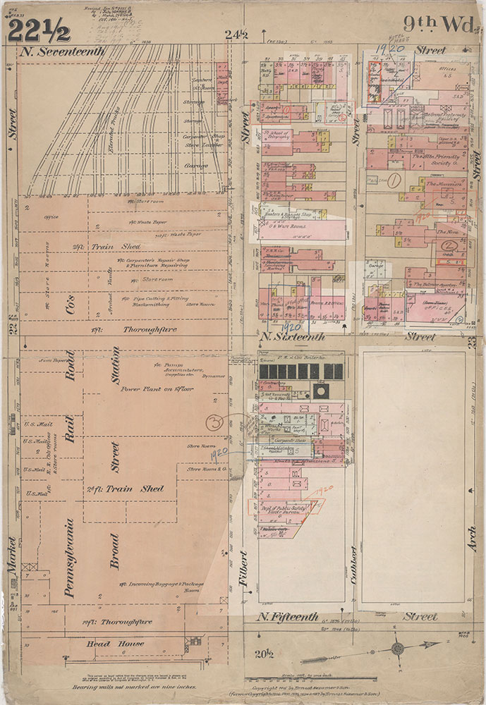 Insurance Maps of the City of Philadelphia, 1915-1920, Plate 22 1/2