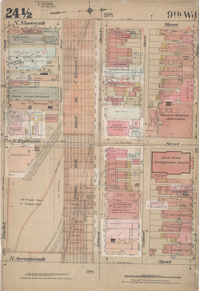 Insurance Maps of the City of Philadelphia, 1915-1920, Plate 24 1/2