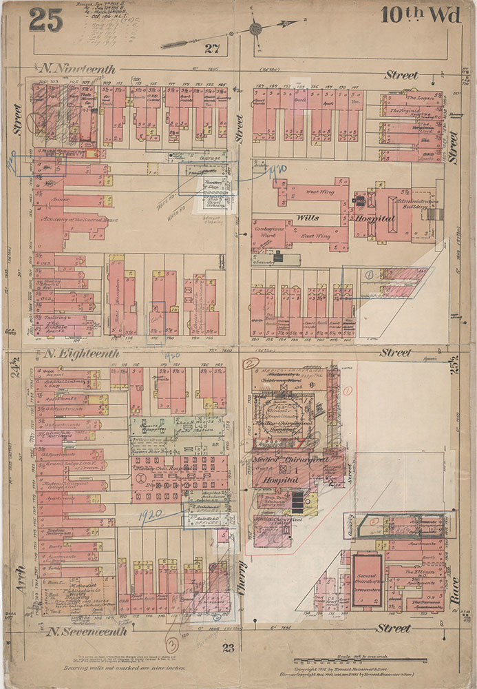 Insurance Maps of the City of Philadelphia, 1915-1920, Plate 25