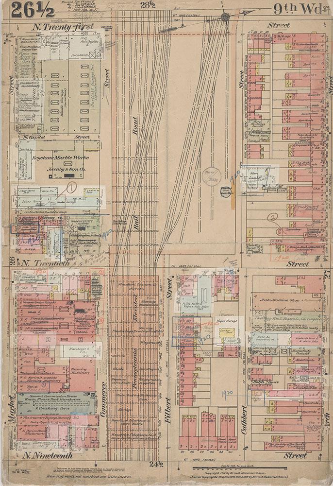 Insurance Maps of the City of Philadelphia, 1915-1920, Plate 26 1/2