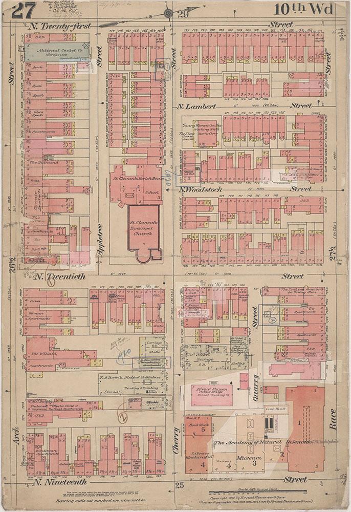 Insurance Maps of the City of Philadelphia, 1915-1920, Plate 27