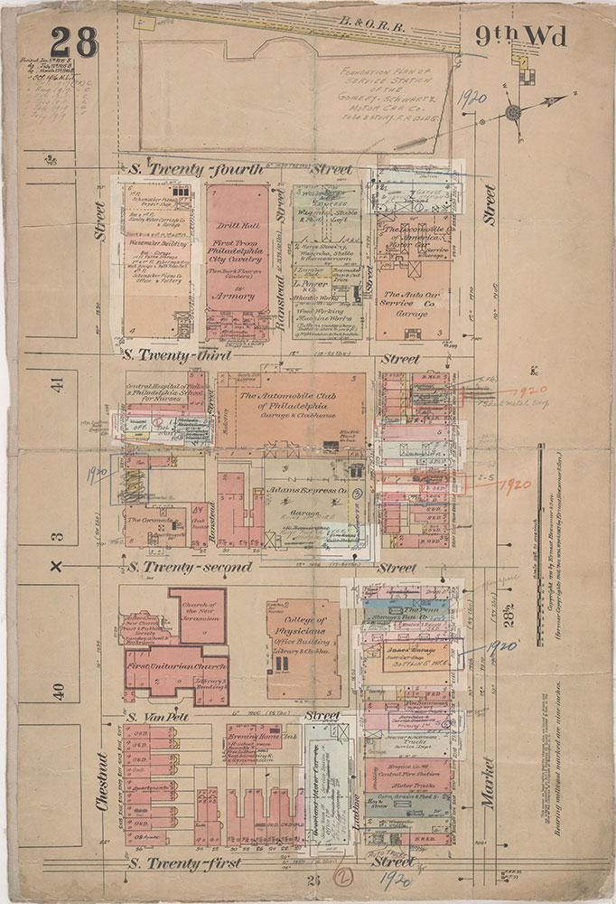 Insurance Maps of the City of Philadelphia, 1915-1920, Plate 28