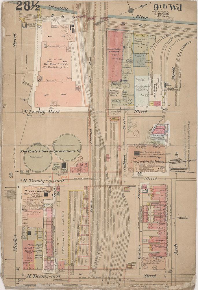 Insurance Maps of the City of Philadelphia, 1915-1920, Plate 28 1/2