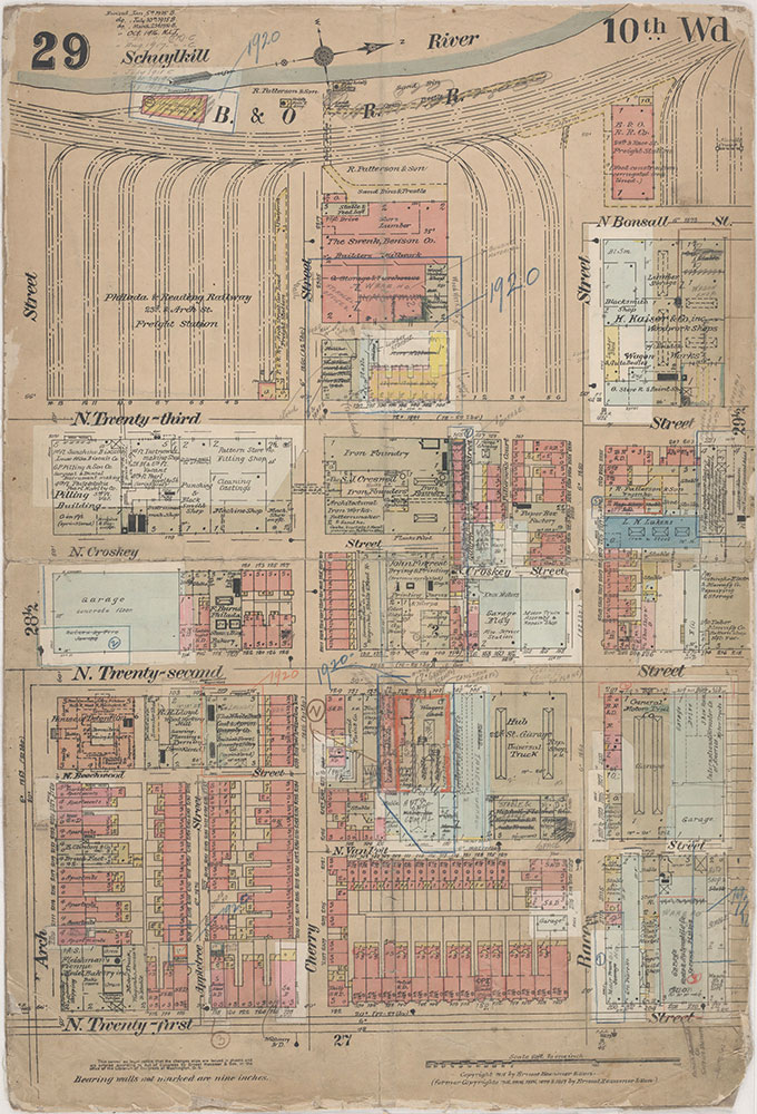 Insurance Maps of the City of Philadelphia, 1915-1920, Plate 29