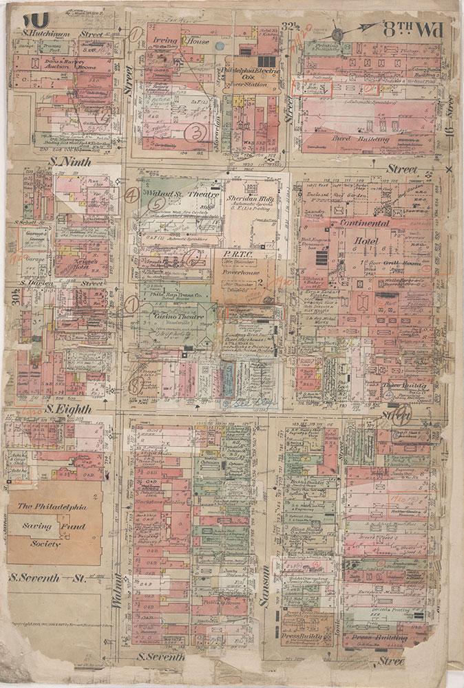 Insurance Maps of the City of Philadelphia, 1908-1920, Plate 30