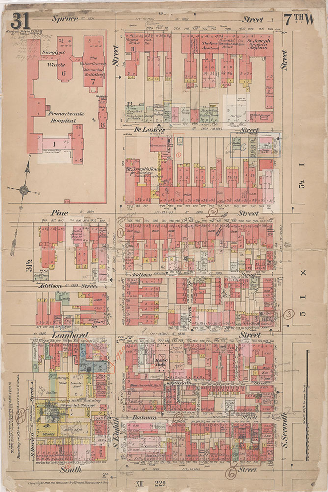 Insurance Maps of the City of Philadelphia, 1908-1920, Plate 31