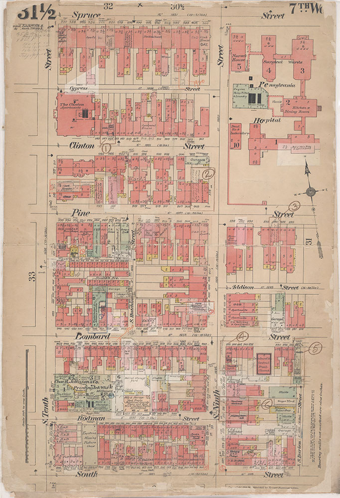 Insurance Maps of the City of Philadelphia, 1908-1920, Plate 31 1/2