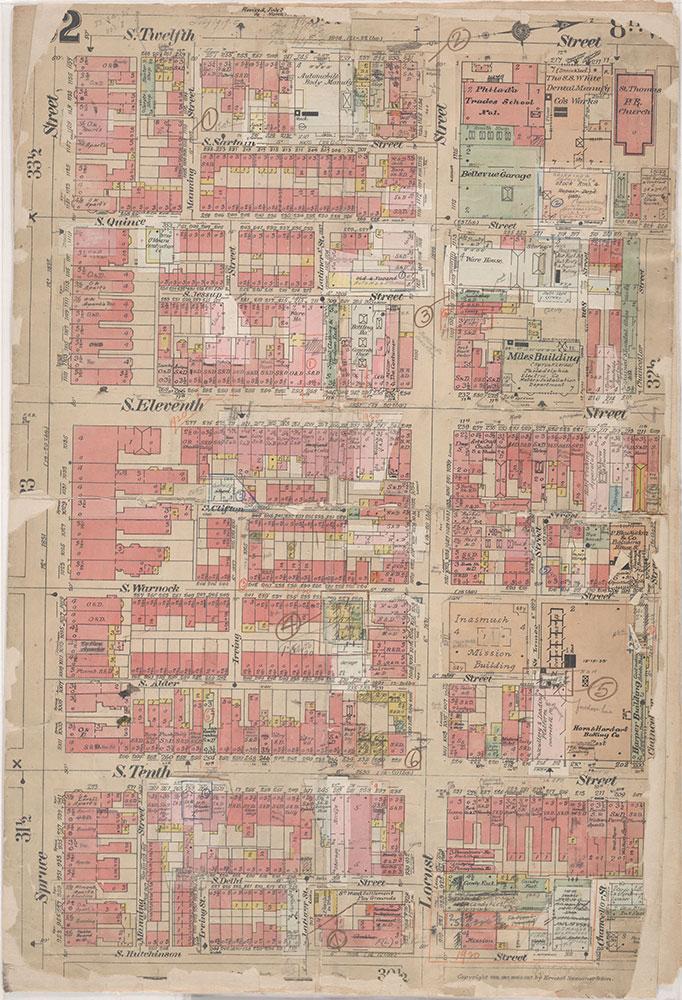 Insurance Maps of the City of Philadelphia, 1908-1920, Plate 32
