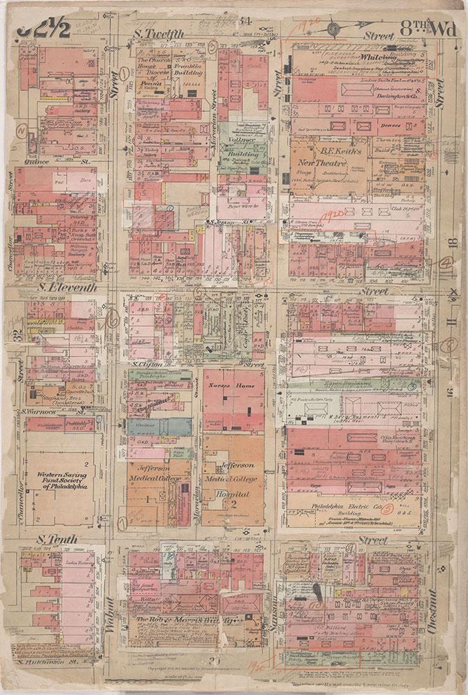 Insurance Maps of the City of Philadelphia, 1908-1920, Plate 32 1/2