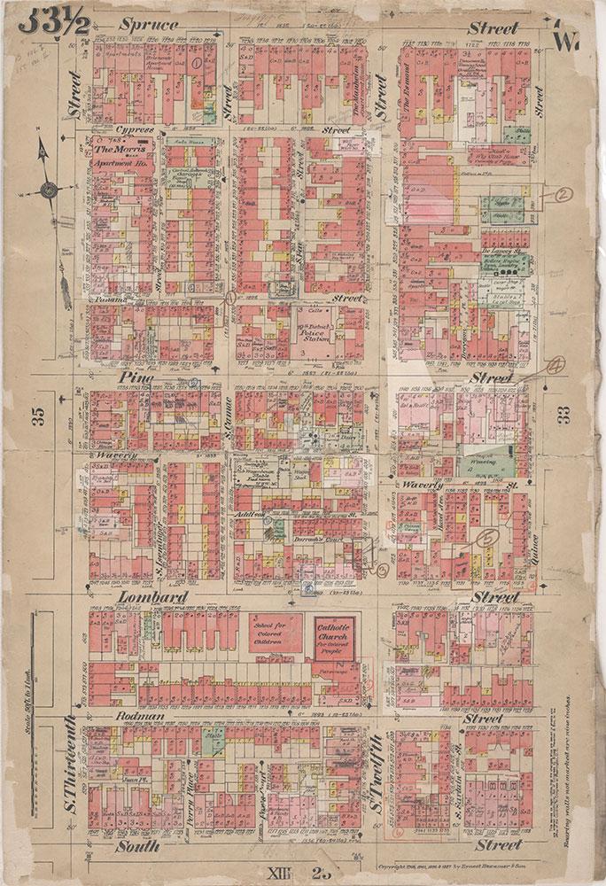 Insurance Maps of the City of Philadelphia, 1908-1920, Plate 33 1/2