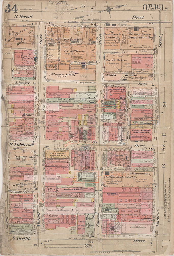 Insurance Maps of the City of Philadelphia, 1908-1920, Plate 34
