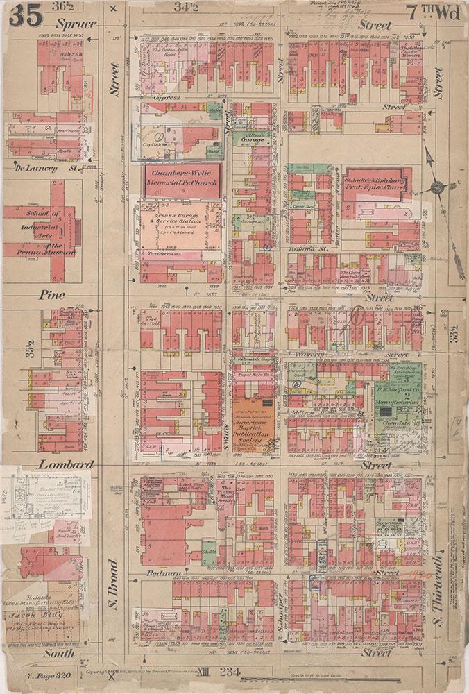 Insurance Maps of the City of Philadelphia, 1908-1920, Plate 35