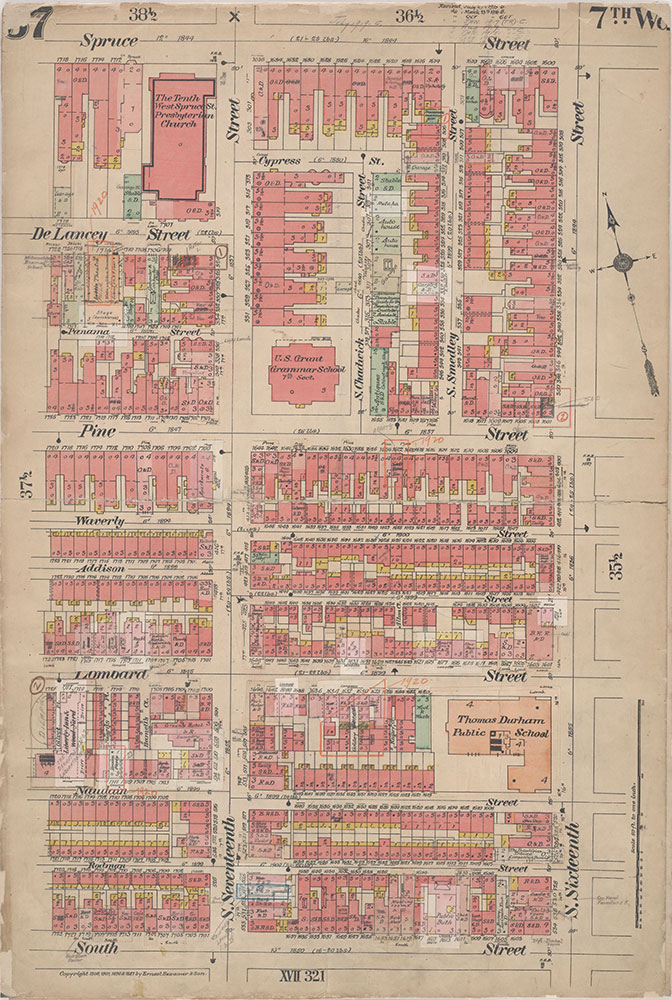 Insurance Maps of the City of Philadelphia, 1908-1920, Plate 37