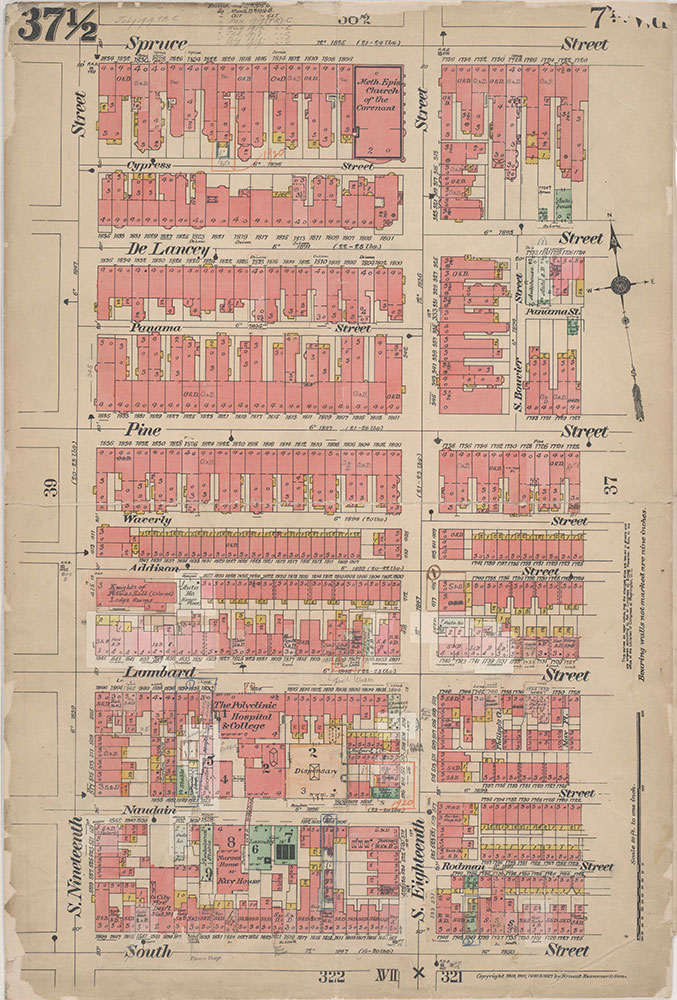 Insurance Maps of the City of Philadelphia, 1908-1920, Plate 37 1/2