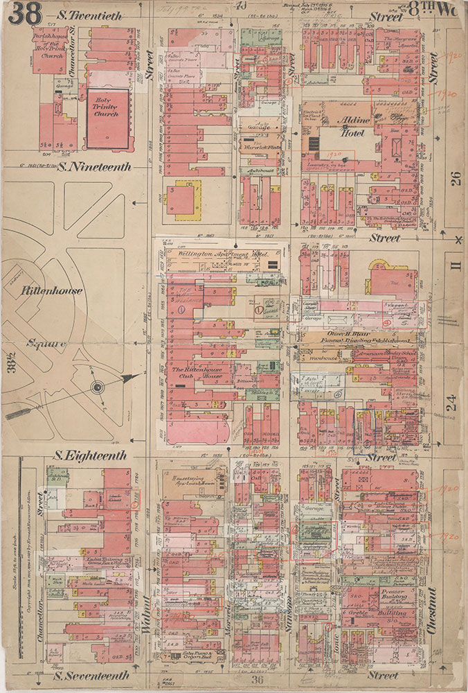 Insurance Maps of the City of Philadelphia, 1908-1920, Plate 38