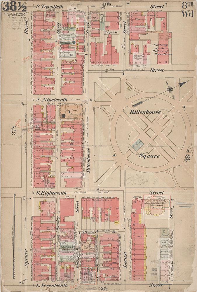 Insurance Maps of the City of Philadelphia, 1908-1920, Plate 38 1/2