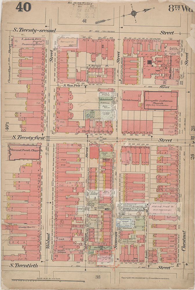 Insurance Maps of the City of Philadelphia, 1908-1920, Plate 40