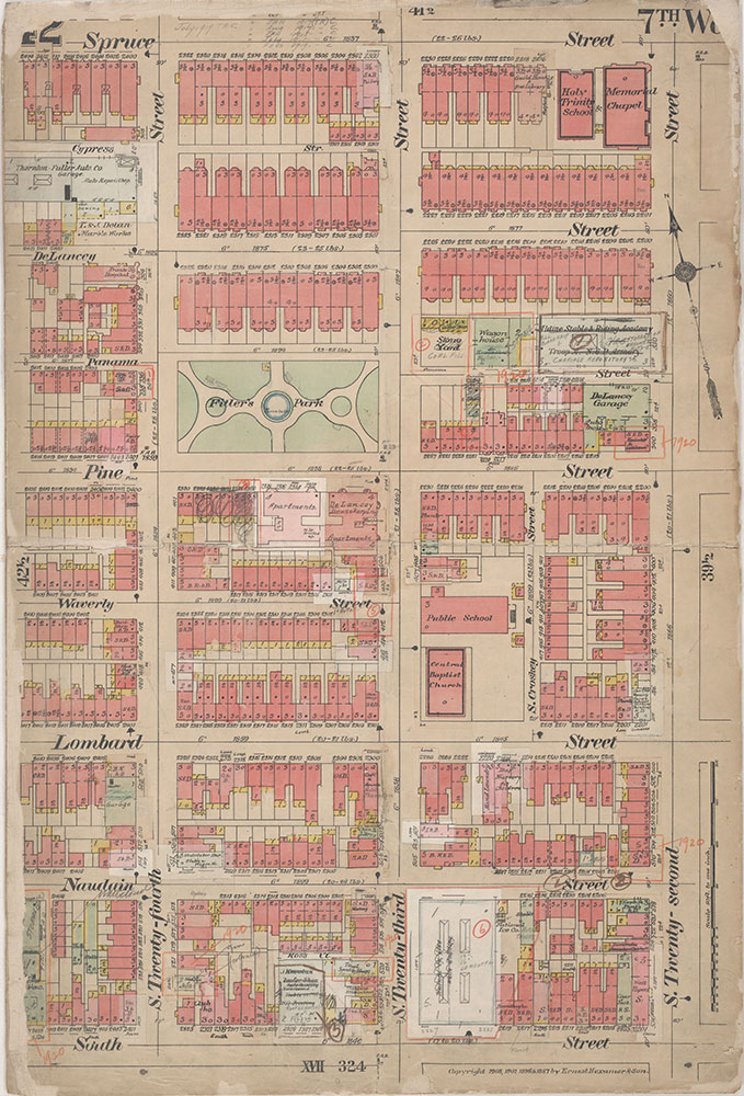 Insurance Maps of the City of Philadelphia, 1908-1920, Plate 42