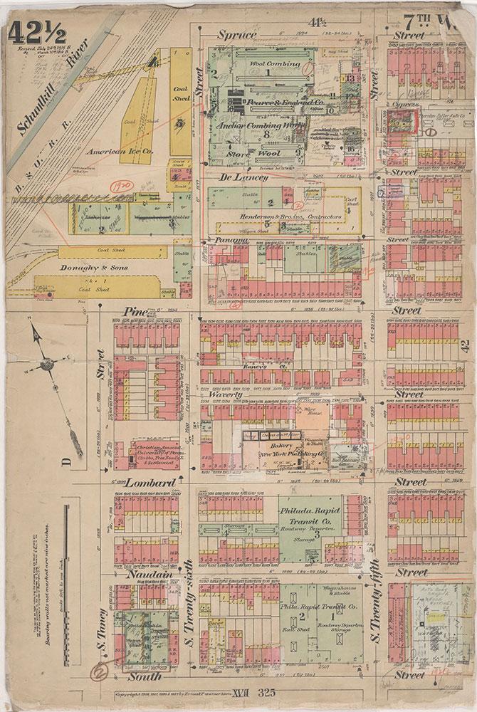 Insurance Maps of the City of Philadelphia, 1908-1920, Plate 42 1/2