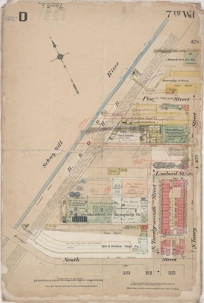 Insurance Maps of the City of Philadelphia, 1908-1920, Plate D