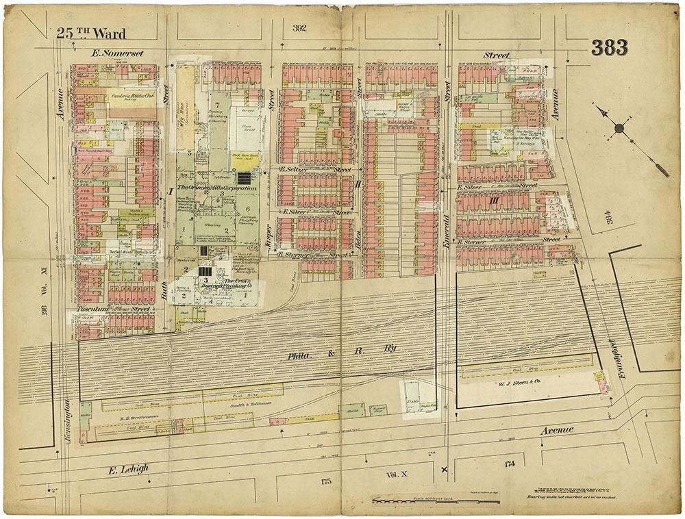 Insurance Maps of the City of Philadelphia, 1913-1918, Plate 383