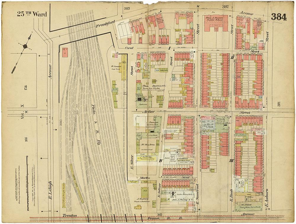Insurance Maps of the City of Philadelphia, 1913-1918, Plate 384