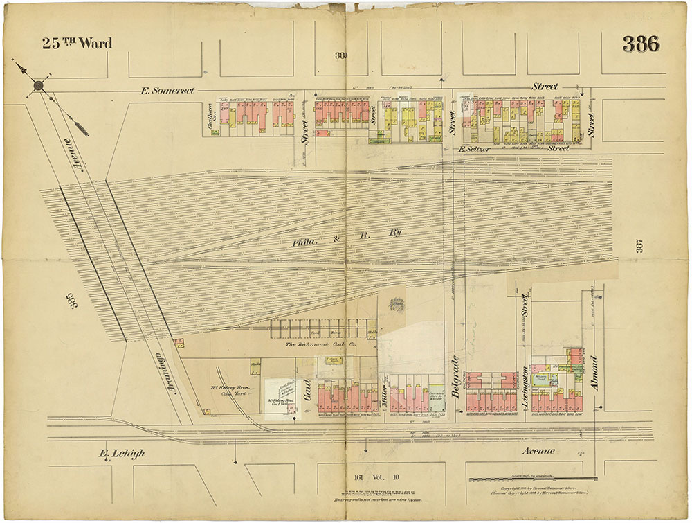 Insurance Maps of the City of Philadelphia, 1913-1918, Plate 386