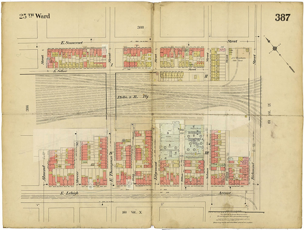 Insurance Maps of the City of Philadelphia, 1913-1918, Plate 387