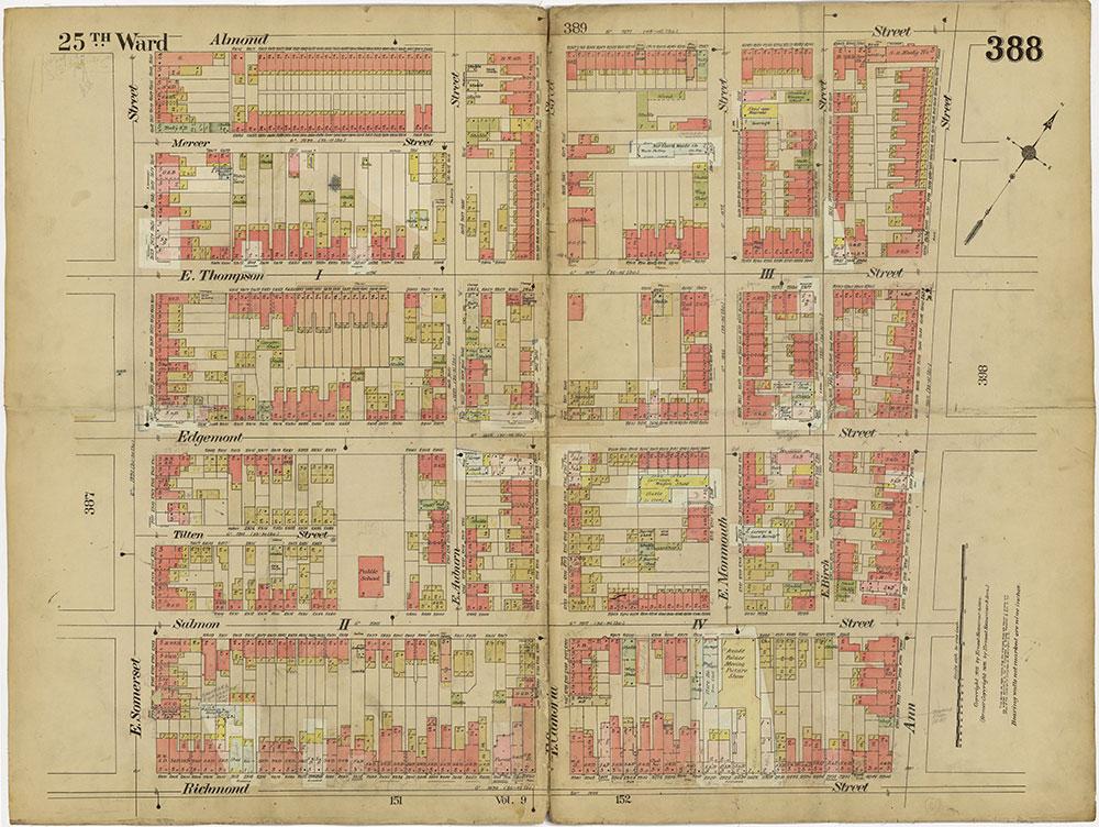 Insurance Maps of the City of Philadelphia, 1913-1918, Plate 388
