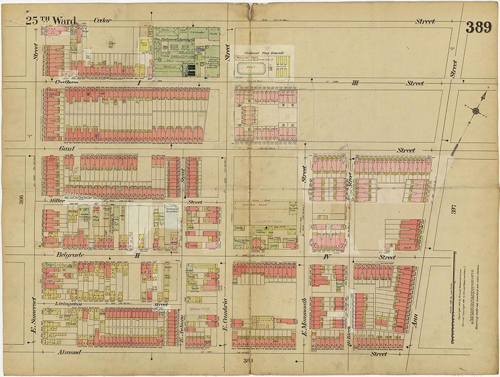 Insurance Maps of the City of Philadelphia, 1913-1918, Plate 389