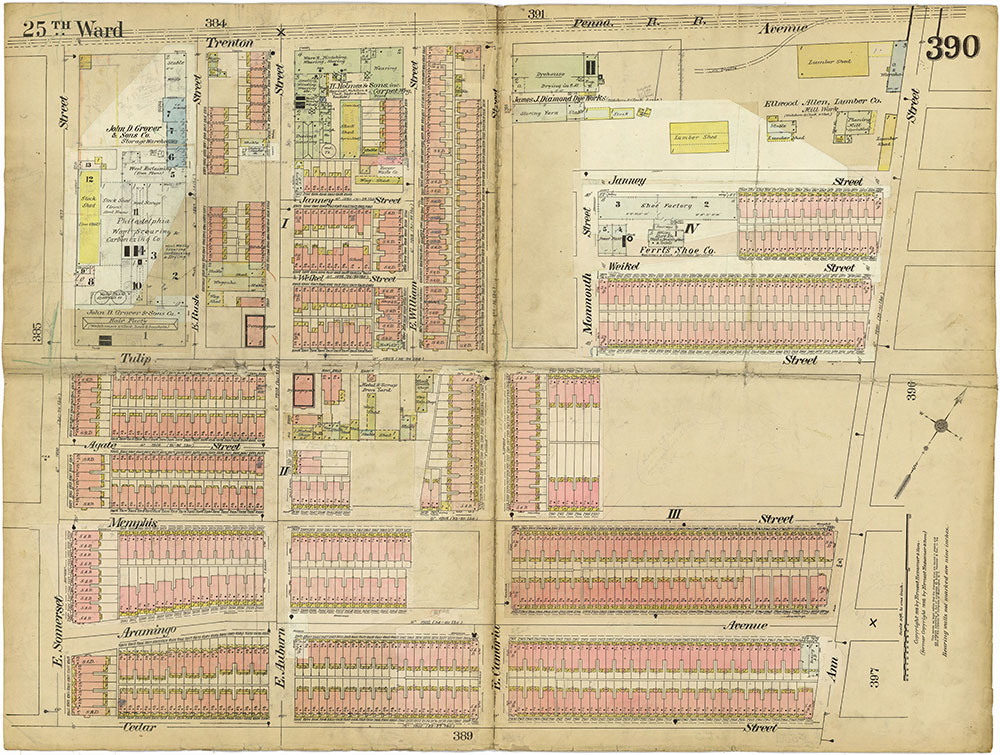 Insurance Maps of the City of Philadelphia, 1913-1918, Plate 390