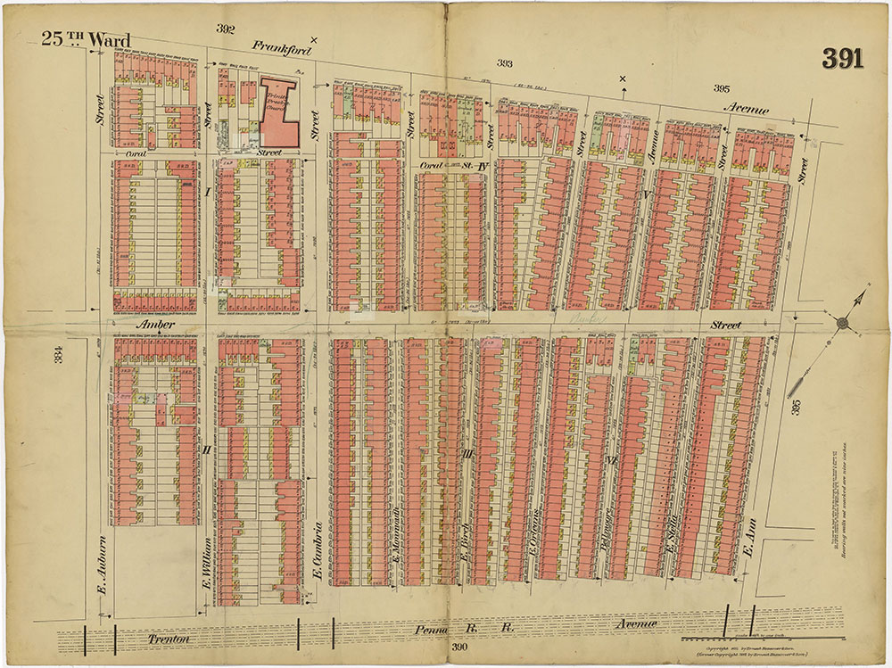 Insurance Maps of the City of Philadelphia, 1913-1918, Plate 391