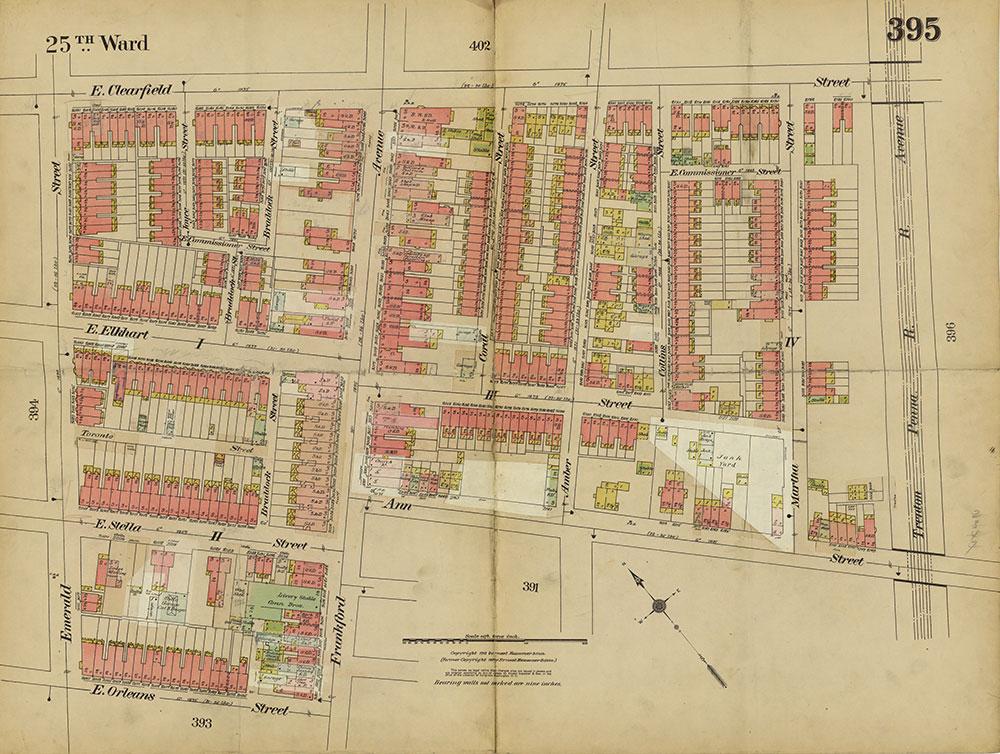 Insurance Maps of the City of Philadelphia, 1913-1918, Plate 395