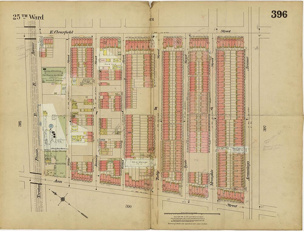 Insurance Maps of the City of Philadelphia, 1913-1918, Plate 396