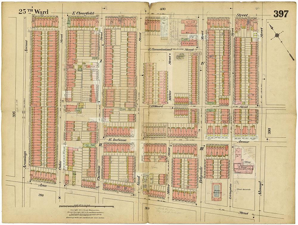 Insurance Maps of the City of Philadelphia, 1913-1918, Plate 397