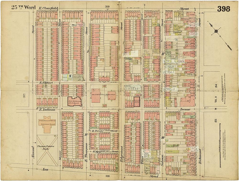 Insurance Maps of the City of Philadelphia, 1913-1918, Plate 398